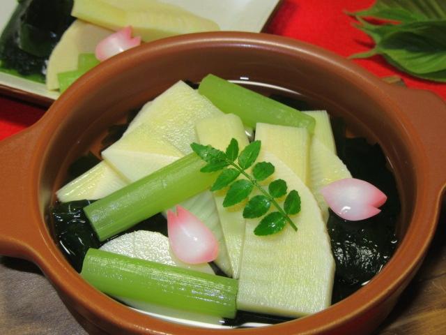 若竹鍋,春の鍋料理の献立
