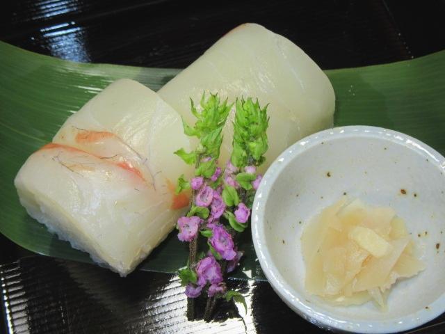 たいの小袖寿司,春の献立,お凌ぎ