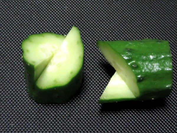 胡瓜の切り違い,飾り切り方法