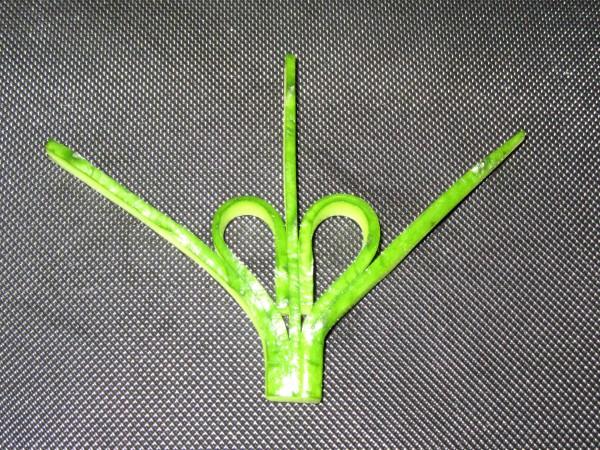 扇胡瓜の飾り切り手順,完成写真