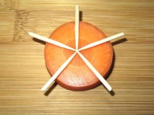 梅人参の飾り切り手順