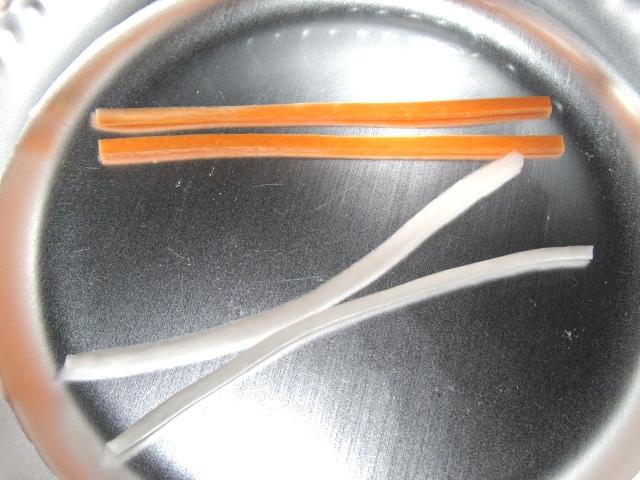 大根と人参の相生結びの作り方の基本手順,ゆでる工程
