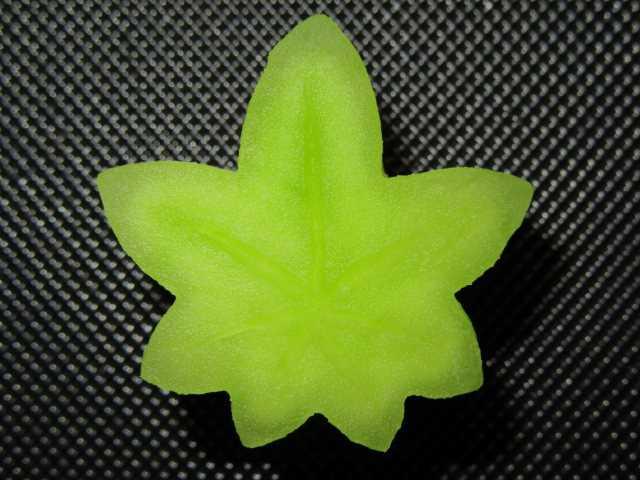 楓冬瓜の切り方,飾り切り方法
