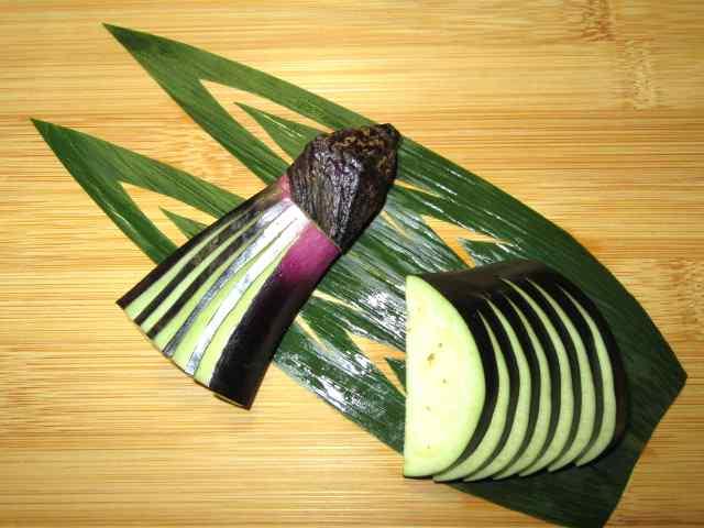 天ぷらなすの切り方手順,茄子,飾り切り