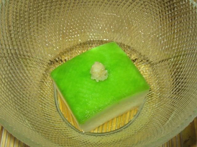 夏の献立ひすい冬瓜,とうがんの翡翠煮