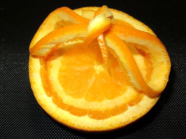 オレンジカップの飾り切り,切り方手順