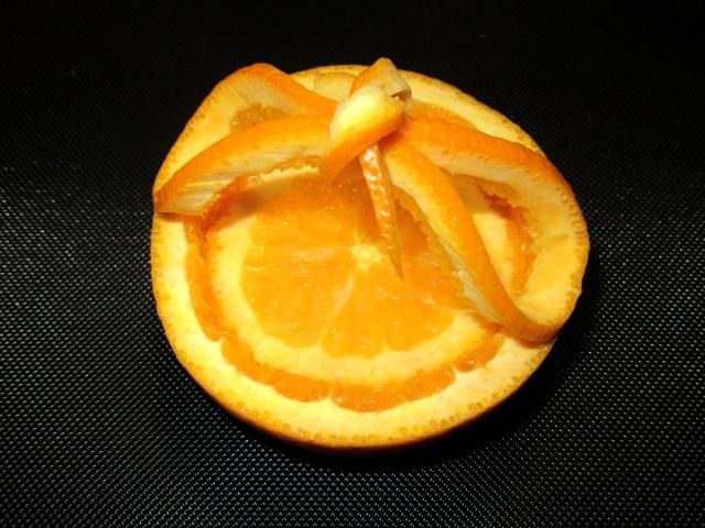 オレンジカップの飾り切り