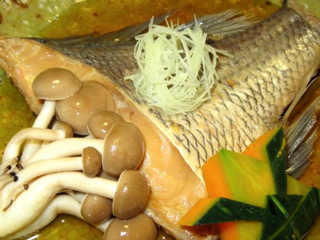 鯛の煮物,あっさり煮,八方煮の献立,針しょうが