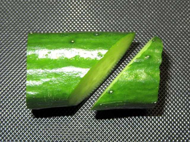 竹型胡瓜,わさび台,飾り切り,きゅうり