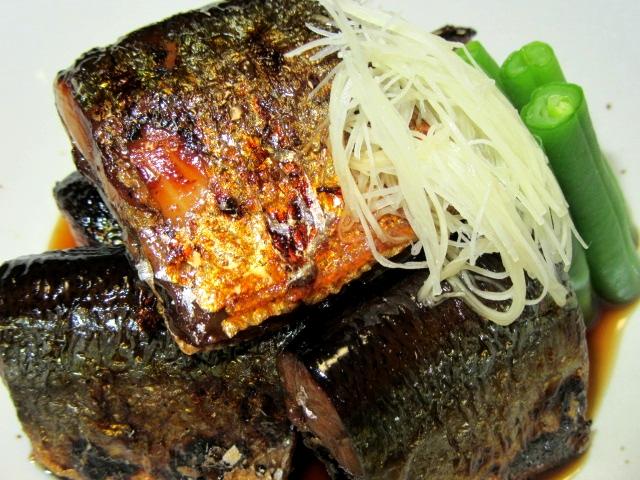 さんま生姜煮,秋刀魚煮物,飾り切り,針生姜