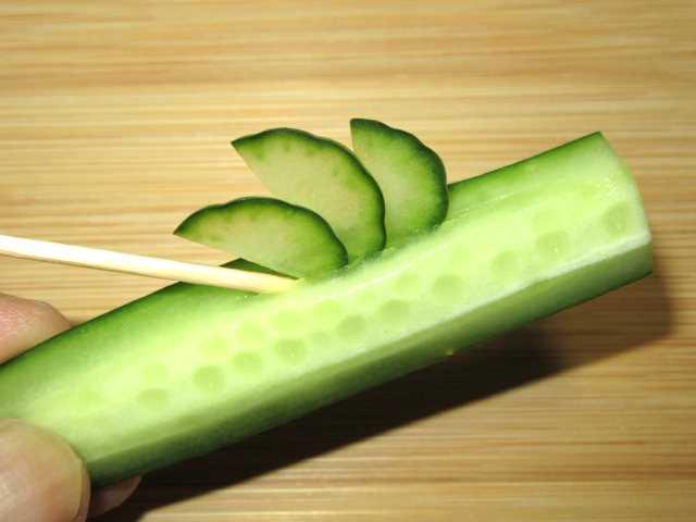 竹胡瓜の飾り切り方法