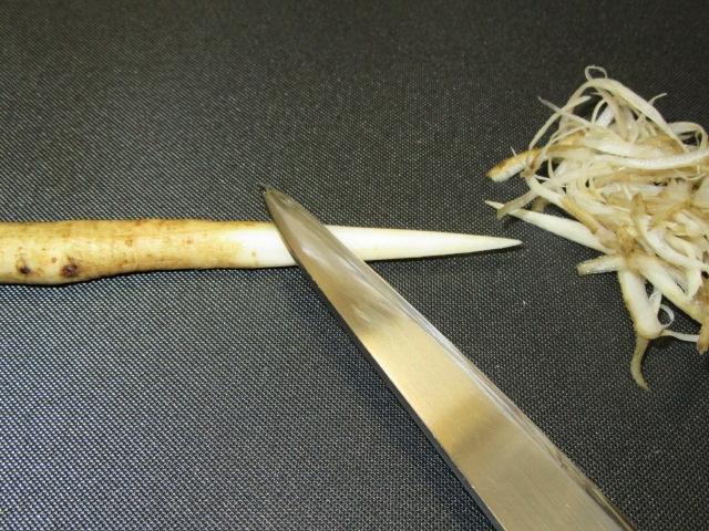 笹がきごぼうの切り方手順