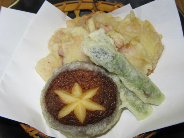 蛸の天ぷらの作り方手順,夏の揚げ物の献立,盛りつけ例