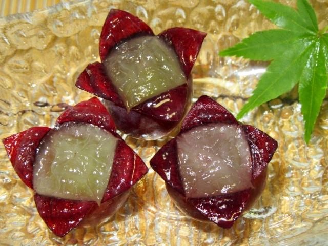 葡萄の切り方四方花の飾り切り,ぶどう盛りつけ