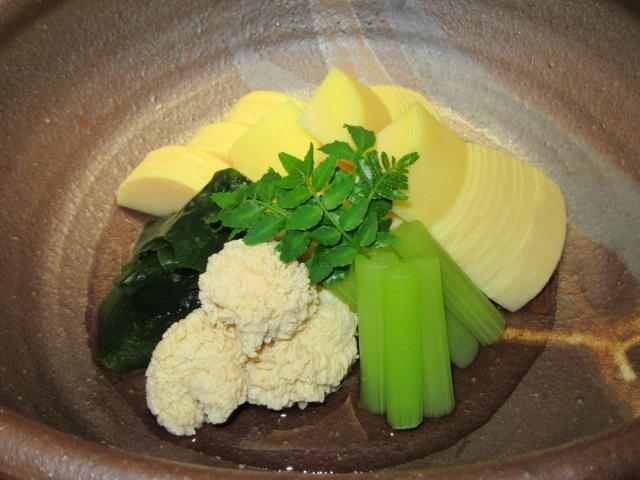 たけのこの若竹煮,春の煮物の献立,預け鉢や強肴