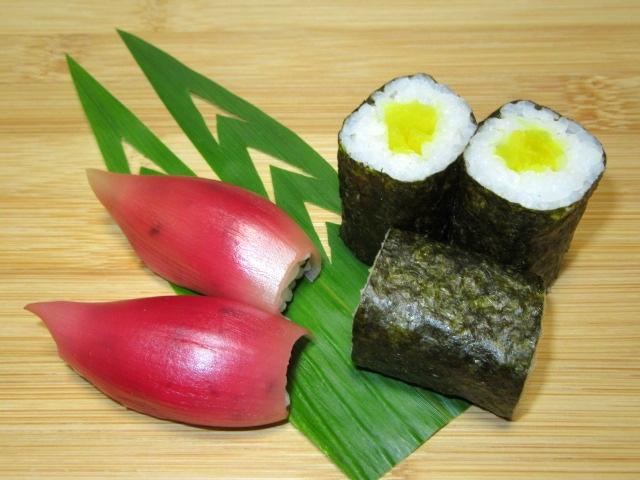 みょうが寿司,しんこ巻き,笹の飾り切り