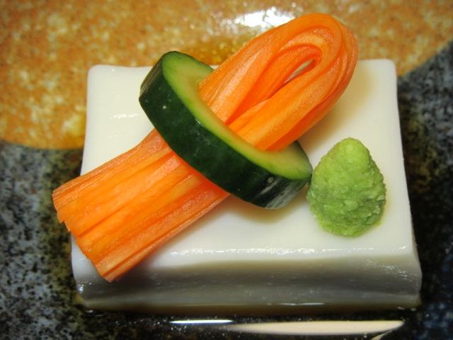 きゅうり,人参,飾り切り,ごまどうふ,ごま豆腐1img_5368