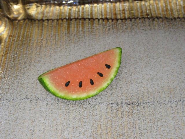すだちを使った西瓜の作り方,前菜のすいかの飾り細工