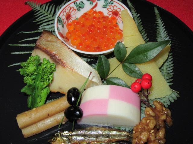 正月の前菜盛り合わせ,おせち料理を使った八寸