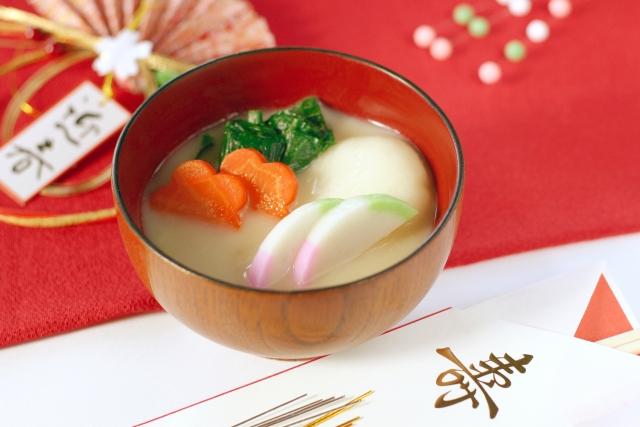 雑煮,椀物,正月,ぞうに,白味噌仕立て