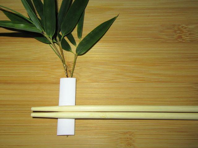 竹,笹の箸置きの作り方