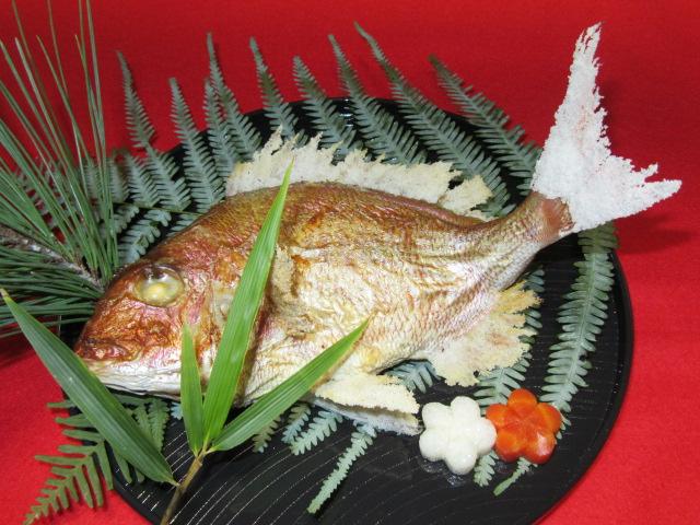 たいの焼き物の調理方法にらみ鯛,正月やおせち料理の献立