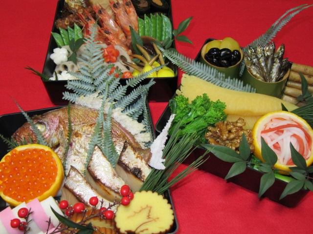 おせち料理三段重,正月の献立