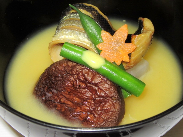 さんまの味噌漬け西京椀,秋の献立白みそ仕立て