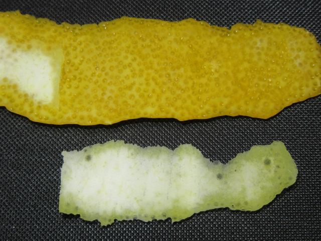 黄ゆずの皮