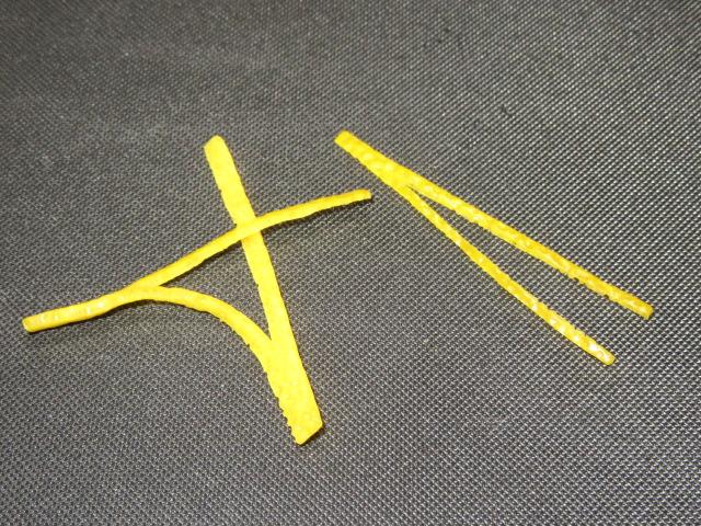 松葉ゆず飾り切り,まつばゆず,折れ松葉の切り方