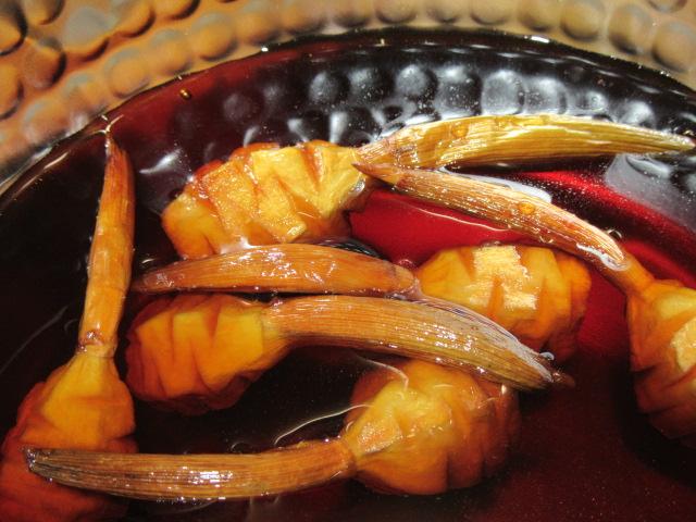 煮物の作り方,くわい飾り切り,松笠慈姑の調理方法