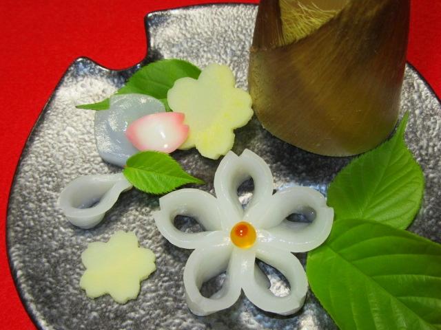 甲いかの桜造り,春の刺身,向付IMG_7112