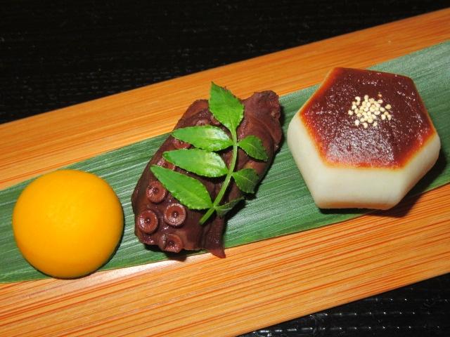 芋蛸南瓜,いもたこなんきんの盛りつけ写真