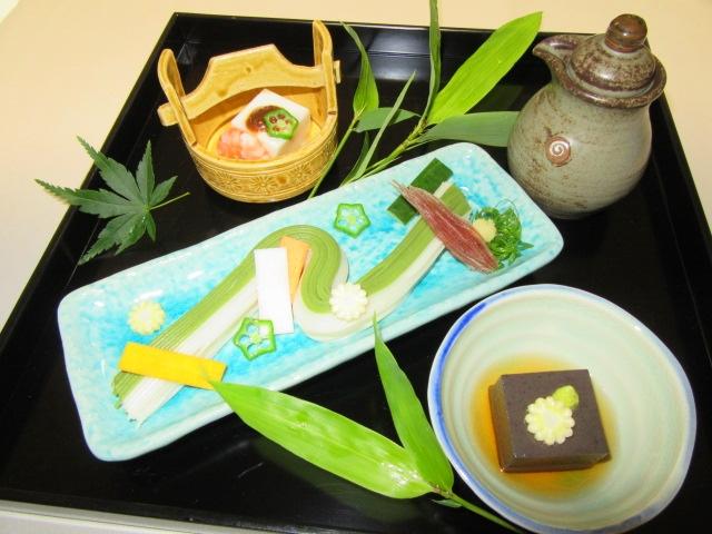 七夕の盛りつけ例,織姫,彦星豆腐