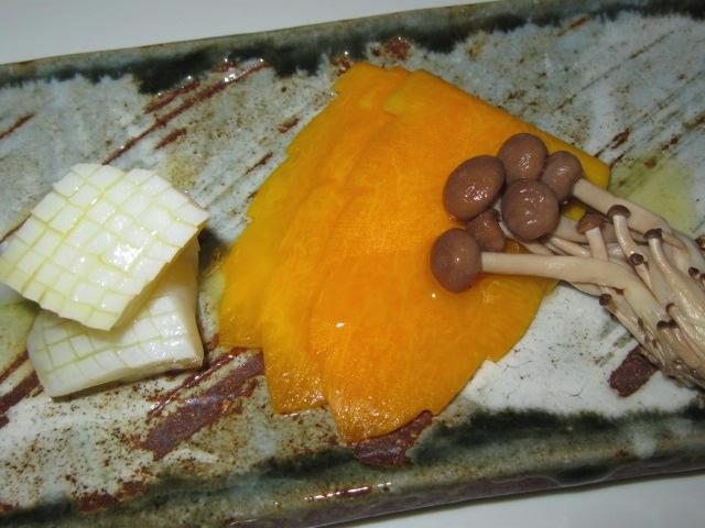 かぼちゃの飾り切り,木の葉南瓜のバター焼きレシピ