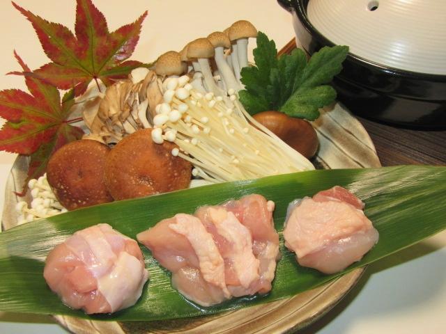 鶏肉ときのこの寄せ鍋,秋の献立