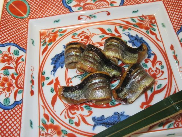 さんまの味噌漬け,秋の焼き物献立,懐石料理5人盛り