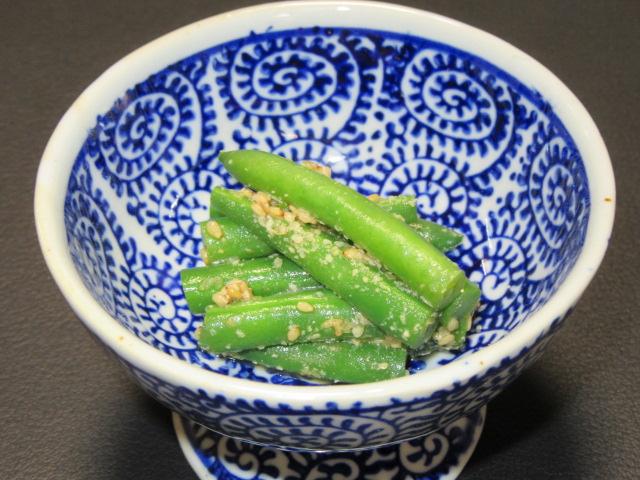 いんげん豆のごま和えの作り方,夏の食材