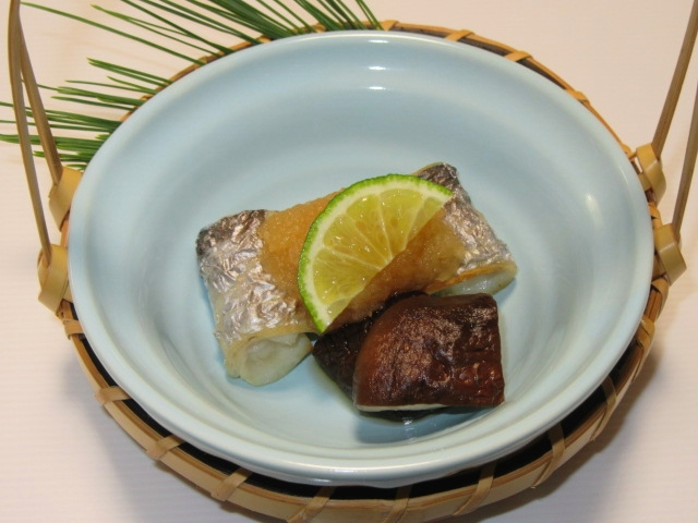 たちうおのおろし焼き,太刀魚の焼き物,夏の献立