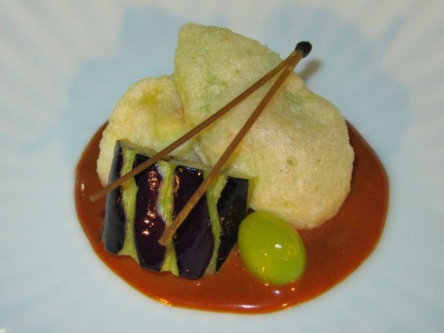 いちじく天ぷらとなすのごま味噌,ひすい銀なん