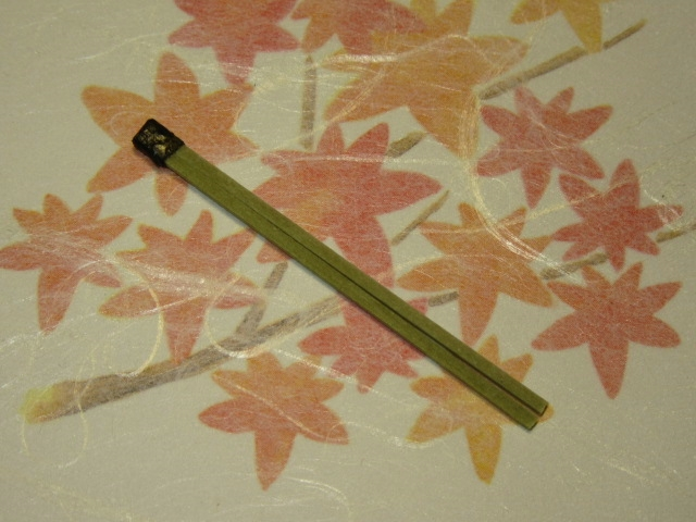 茶そばで作る松葉蕎麦