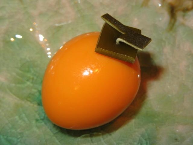 うずら卵の柿玉子の作り方手順,秋の献立と料理演出方法