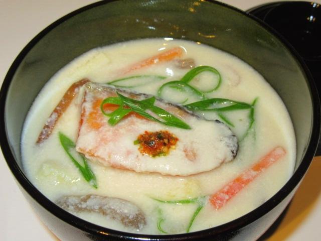 焼き鮭の酒かす汁,秋の椀物の献立