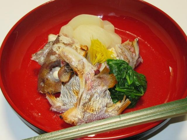 たいかぶらの盛りつけ例,茶懐石の強肴,鯛の煮物