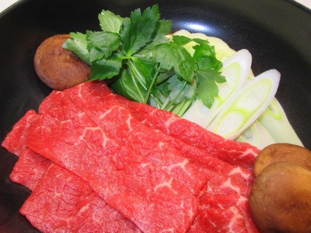 牛肉のすき焼き
