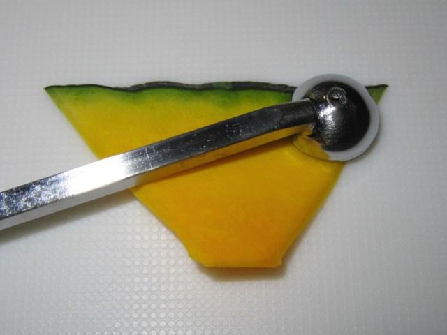 いちょう南瓜の飾り切り手順