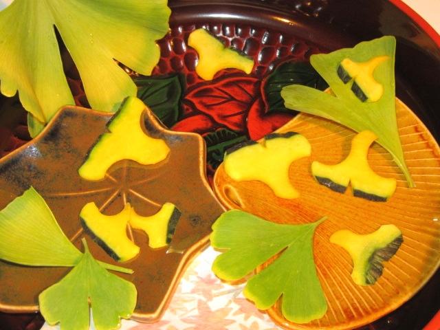 いちょう南瓜,公孫樹の飾り切り