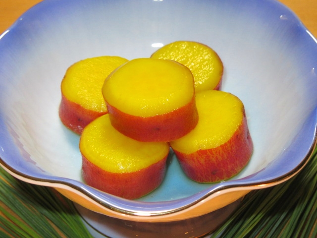 さつまいもの蜜煮,薩摩芋レモン煮