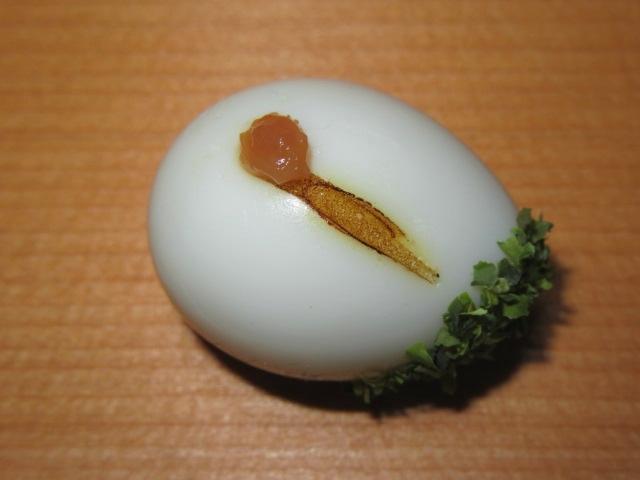 鶴玉子の作り方,青のりと梅肉