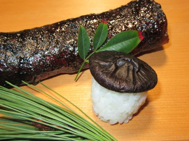 干し椎茸のきのこ寿司の作り方と盛り付け